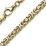 7mm pulsera cadena bizantina de 750oro amarillo 23cm maciza
