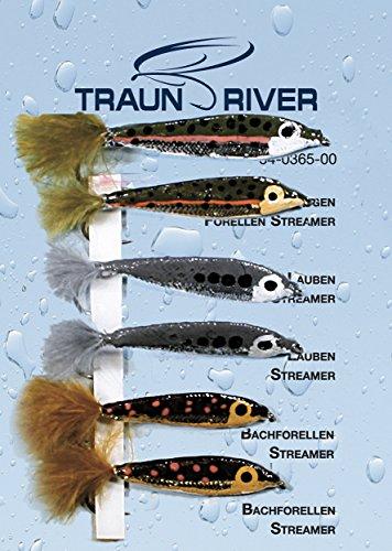 Traun River Fliegensortiment Realistic Streamer SetInhalt 6