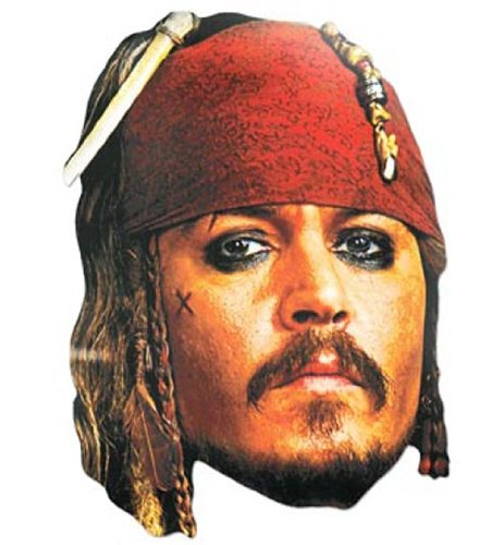 Bedruckte Gesichtsmaske von Captain Jack Sparrow ()
