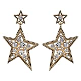 Navya Collection Antique Style Star Earr...