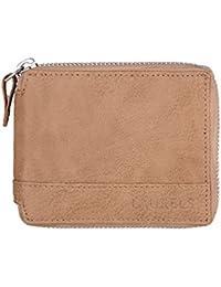 Laurels Zipper II Beige Color Men Leather Wallet- LWT-ZIP-II-16