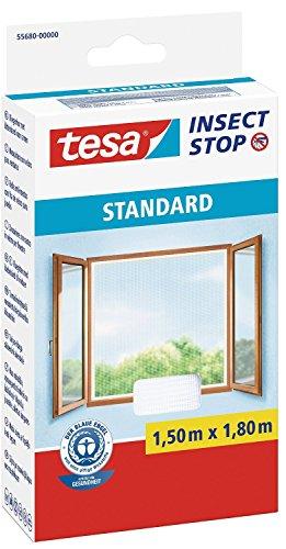 Tesa zanzariera con velcro standard finestra, 1,5m:1,8m / 2er pack, bianco