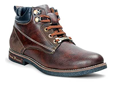 Bacca Bucci Men's Brown Leather Boots - 6 UK, BBMA2121C