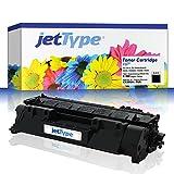 jetType Toner ersetzt HP 05A / CE505A für LaserJet P2035 / P2055DN / P2035N / P2055 / P2055D, schwarz, 2.300 Seiten