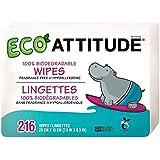 Attitude 100% biodégradables Lingettes pour bébés (72 par paquet x 3) -