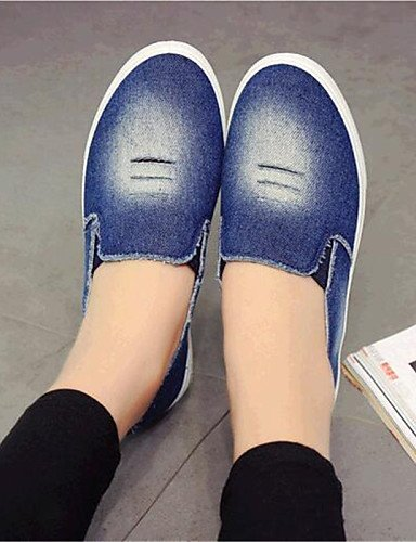 ShangYi gyht Scarpe Donna-Mocassini-Tempo libero / Casual-Comoda-Piatto-Denim-Blu Dark Blue