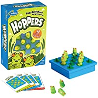 Think Fun Hoppers Peg Solitaire Jumping Game