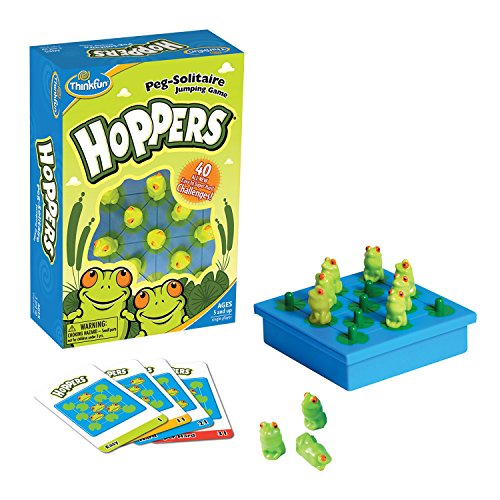 Ravensburger ThinkFun Hoppers - peg Solitaire Game [Versione Inglese]