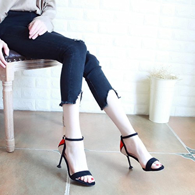 YMFIE Estate Coloreeee cavo fashion fashion fashion dita della signora e sandali con tacco alto scarpe,36 UE,un | Raccomandazione popolare  3672b8