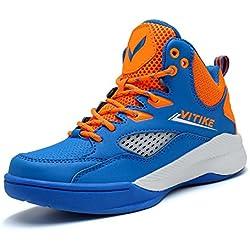 ASHION Zapatos de Baloncesto para niños Alto para Ayudar a los Zapatos Deportivos (33 EU, Azul 1)