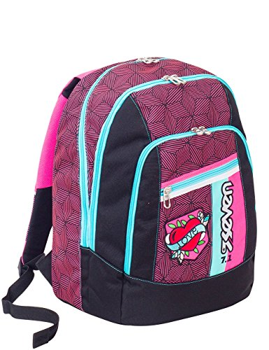 Zaino scuola advanced SEVEN - REBEL GIRL - Fuxia - 30 LT - inserti rifrangenti