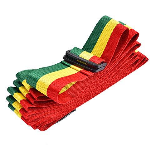 Alomejor Tricolor afrikanischen Hand Drum Gürtel, Tragbar Djembe Schultergurt für Stage Performance