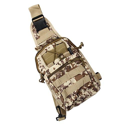 Imagen de bolso de bandolera  sodial r bolso de bandolera de hombro de camping, bolso de bandolera tactico  de bicicletas de sola correa  de senderism desierto digital alternativa