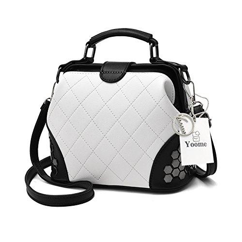 Yoome frizione con pattini gotico Bag Crossbody Top Handle Tote borse eleganti per borsa donna borsa - rosa B.White