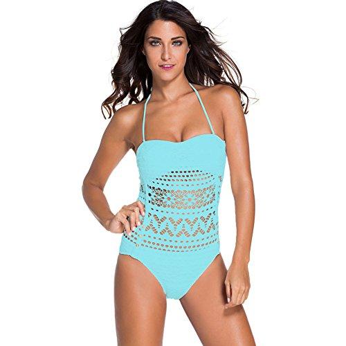 CU@EY Women's Stil Design Unique Bikini Badeanzug komfortable Stil neuartige Qualität gut für die Party Freizeit Urlaub Schwimmen Strand Ausübung oder andere Anlässe Light Blue