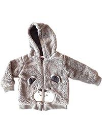 Pull/sweat à capuche - Coloris Gris - chaud et tout doux - taille du 3 au 24 mois.