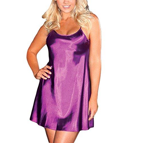 ❤Damen V-Ausschnitt Nachthemd Erotische Kleid, Mosstars Frauen Nighte Dress Babydoll Nachtwäsche Sleep Unterwäsche Miniklied Erotik Sets Sling Oversized Homewear Oversized Dress Nachthemd Kleid Sexy