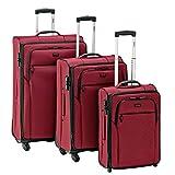 Stratic Seam Set di valigie 3-9691-99, 79 cm, 229 L, Rosso