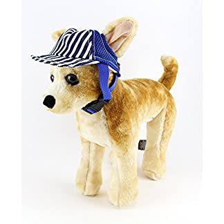 Fashionable Pet Dog Baseball Cap Outdoor Travel Hat - Summer Sun Protection Cap for Small Medium Large Dog (Small, Blue) 4