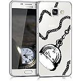 kwmobile Étui transparent pour Samsung Galaxy A5 (2016) Housse de protection en TPU silicone design IMD - cover souple pour portable Design montre de poche