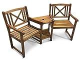 Dimensioni (cm): vedi l' immagine   Guardate questo super set da giardino in legno, compagno di banco realizzato in legno tropicale. Questa bellissima panchina è ampiamente dimensionata per sedere due persone ed è un regalo ideale per gli appassiona...