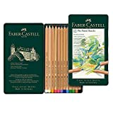 Faber-Castell 112112 Crayon PITT PASTEL boîte métal de 12 pièces