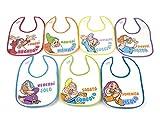 Lulabi Disney I 7 Nani Confezione da 7 Bavaglini in Cotone con Strappo, Multicolore