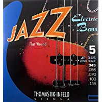 Corde Thomastik per basso elettrico Jazz Bass Serie Nickel Flat Wound Roundcore 'Muta 5 corde'