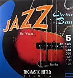 Thomastik Saite für Electric Bass Jazz Bass Serie Nickel Flat Wound Roundcore JF345. Long Scale 34\'\'. 5-string<p><br>-