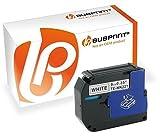 Bubprint Schriftband kompatibel für Brother M-K221 M-K221BZ M K221 MK221 MK 221 für P-Touch 110 55 60 65 75 80 85 90 BB4 M95 Schwarz auf Weiß 9mm x 8m