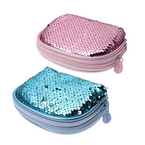 TOYANDONA 2 stücke Glitter Geldbörse Pailletten Geldbörse für Mädchen Frauen (Zufällige Farbe) (Designer-münzen-beutel)