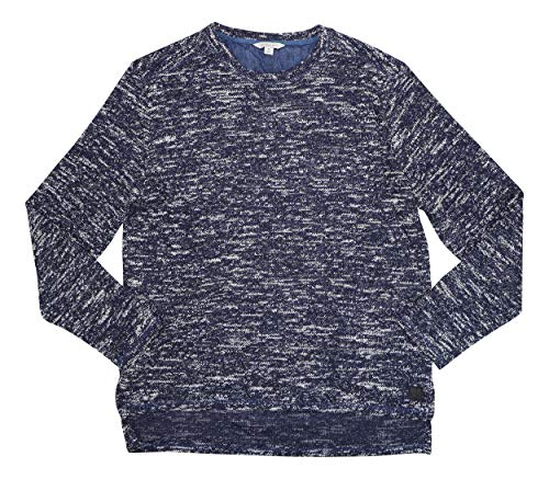 Calvin Klein Jeans Herren Pullover, bedruckt - blau - X-Large