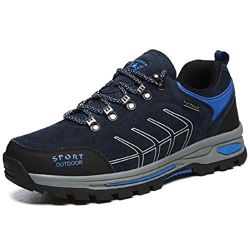 Gracosy Sportschuhe, Trekking-Schuhe Unisex Wanderschuhe Halbschuhe Laufschuhe Sneaker Traillaufschuhe Bequeme Turnschuhe für Herren Damen Braun 43