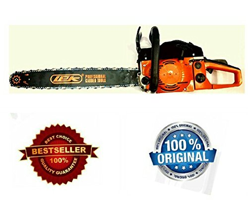 TOOLS CENTRE LEK 22' GUIDE BAR 2400 WATT FUEL CHAINSAW 58CC ,2 STROKE WITH SAFETY GOGGLE & HAND GLOVES