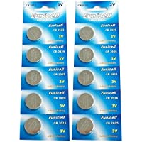 Eunicell CR2025 5003LC Lithium Blister Pack 3V 3 Volt Coin Cell Batteries (10 pcs) by Eunicell preisvergleich bei billige-tabletten.eu