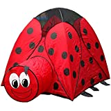 PIGLOO Ladybug Pop-Up Tent House & Tunne...