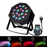 DJ Lichteffekte,SOLMORE Disco Licht 18W 18LED LED PAR Licht DJ Licht mit Fernbedienung für KTV Disco Musik Party RGB