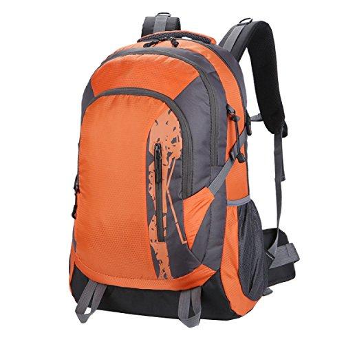 Yy.f Taschen Wandern Tagesrucksack Ultra-light Outdoor-Reisen Camping Radfahren Wandern Schüler Rucksäcke. Multicolor Orange
