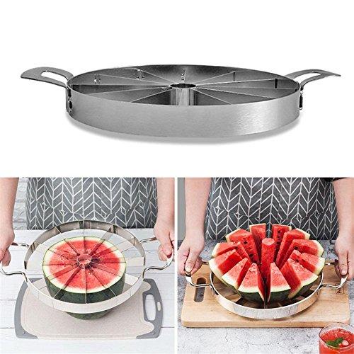 Zezego utensili da cucina pratica anguria anguria creativa cutter melone 420 utensili da taglio per frutta in acciaio inox.