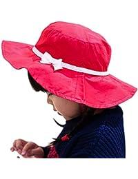 a4dd7bb0d37e Smile YKK Bébé Fille Coton Chapeau visière Uni de Soleil Outdoor Pour ...