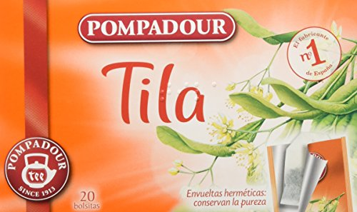 Pompadour Té Infusion Tila - 20 bolsitas - [Pack de 5]