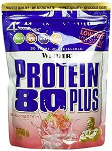 Weider, 80 Plus Protein, Erdbeer, 1er Pack (1x 500g)
