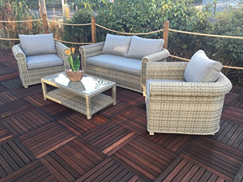 Royalcraft win2sof 6Stück Windsor Deluxe geschoben Sofa-Set, grau (Dining Chair Windsor)
