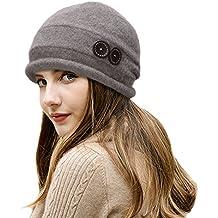 Lawliet Cappello cloche da donna vintage 45b5794473c7