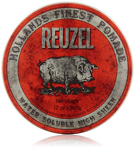 REUZEL Pomade Red Water Soluble High Sheen, 1er Pack (1 x 340 g)
