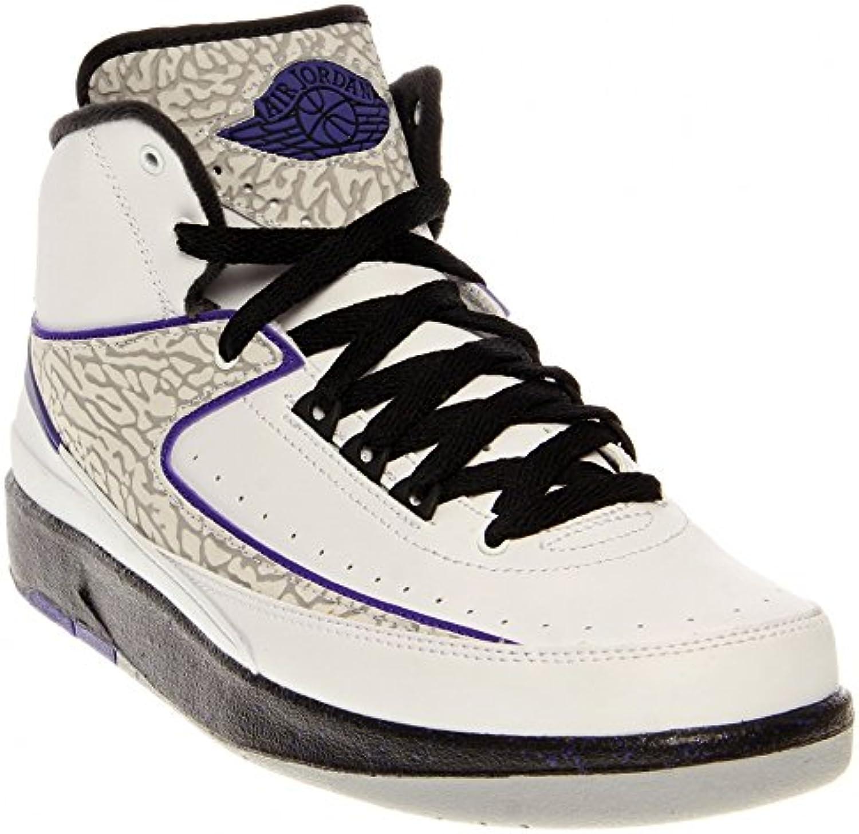 Nike Air Jordan 2 Retro BG Basketballschuhe Sneaker schwarz/grau/infrared