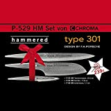 CHROMA Type 301 Set, Tranchiermesser, Santokumesser und Schälmesser