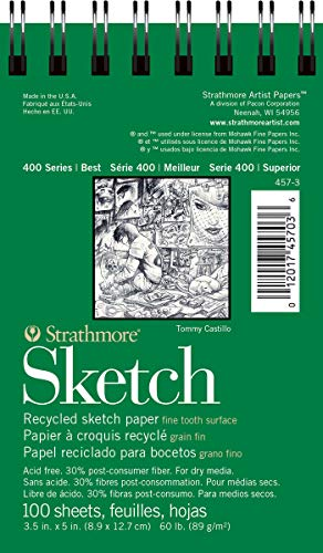 Strathmore 400 Recycled Sketch Pad 3.5x5