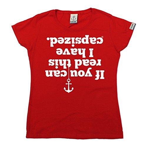 Ocean Bound - T-shirt - Slogan - Manches Courtes - Femme red