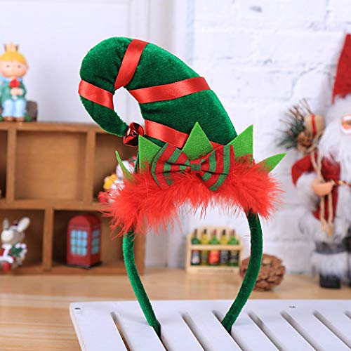 Ecmqs aro cabello de-Navidad madera dibujo animado